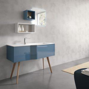 mobile per lavandino e mobiletti blu