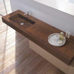 lavabo effetto legno con mobile